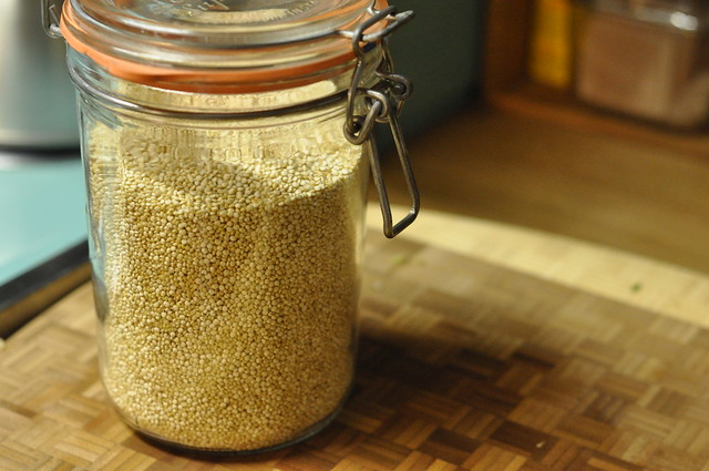quinoa in a jar