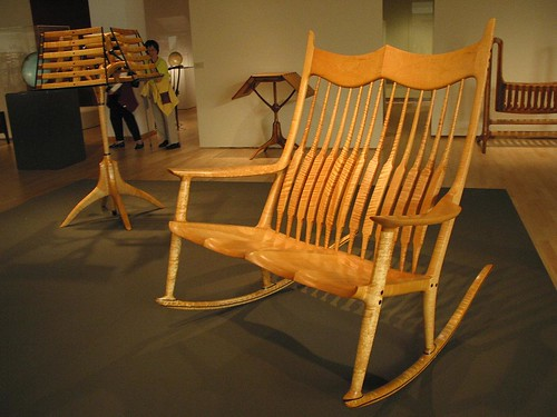 Sam Maloof Rocking Chair - Fiddleback Maple