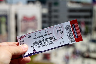 Nationals vs. Brewers Ticket