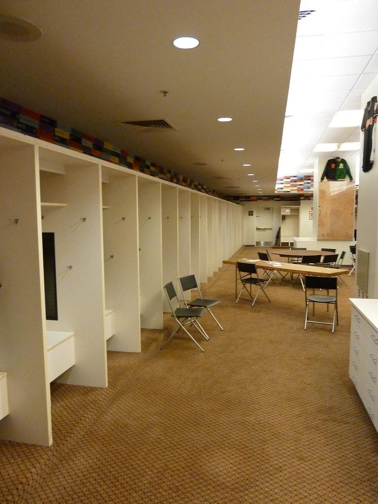 Visitor's locker room at AT&T Park