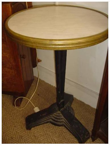 Table bistrot godin ebay avril 2010 100 euros diam 49 - Table bistrot marbre rectangulaire ...