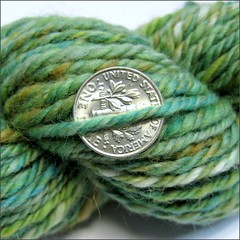 It's Easy Being Green yarn, close up