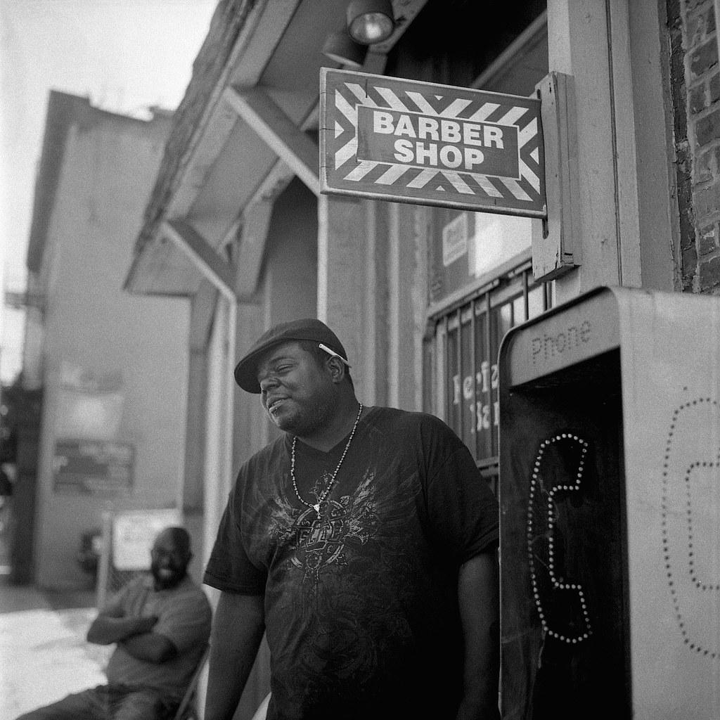 Portrait of Mike outside barber shop  West Case  Baltimore… | Flickr