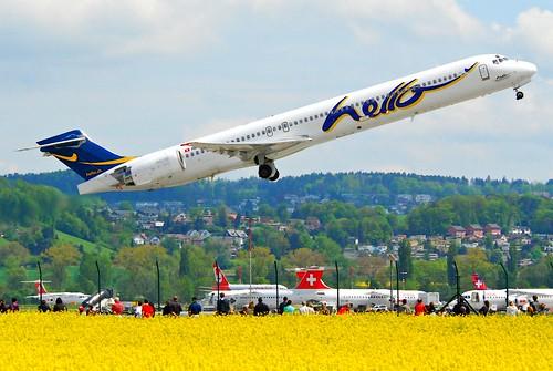 Hello MD-90-30; HB-JIF@ZRH;09.05.2010/571bn