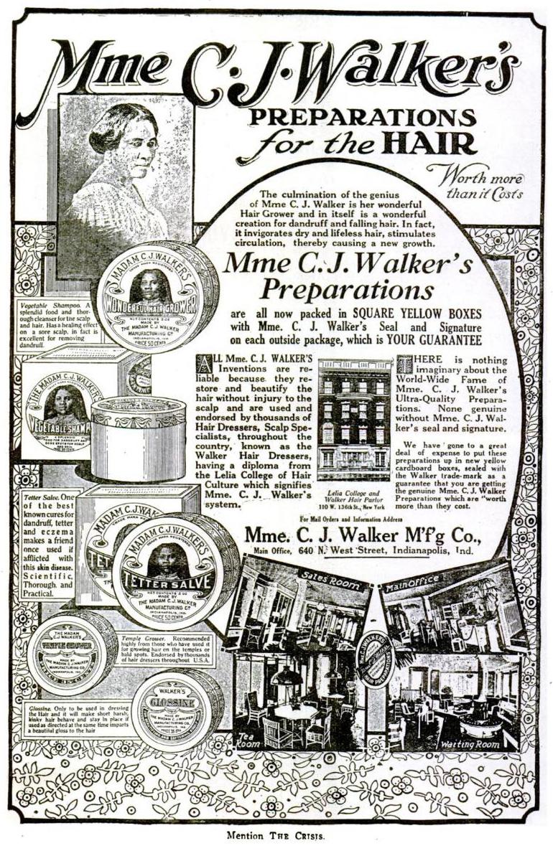 Madame Cj Walker Hair Advertisement Crisis Magazine