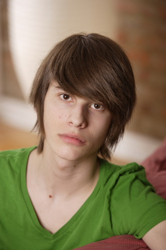 emo teen. Montreal (Qc) CANADA - April 2010 -Model released photo of a 15 ...