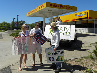 Protest against oil company BP and their still leaking oil in the Gulf of Mexico