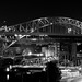 Veterans Memorial Bridge, Cleveland OH (B&W)