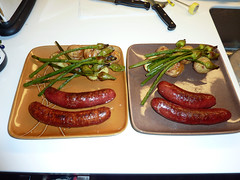Lamb Sausage with Roasted Garlic Spear covered Pot…