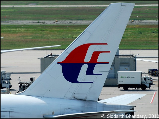 Malaysian Airlines Boeing 777 tail