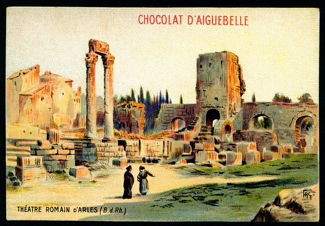 French Tradecard - Roman Theatre, Arles