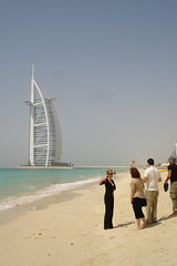 World's first 7 star restaurant and hotel from a distance:  Dubai, UAE