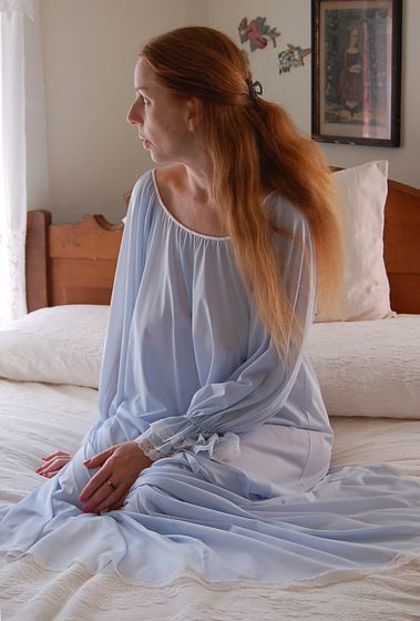 ... Claire Sandra by Lucie Ann Heavenly Blue Nightgown 5  adc6d1264