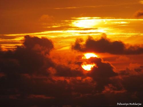 sunset sun india beach clouds mumbai maharastra bandra platinumphoto blueribbonwinne