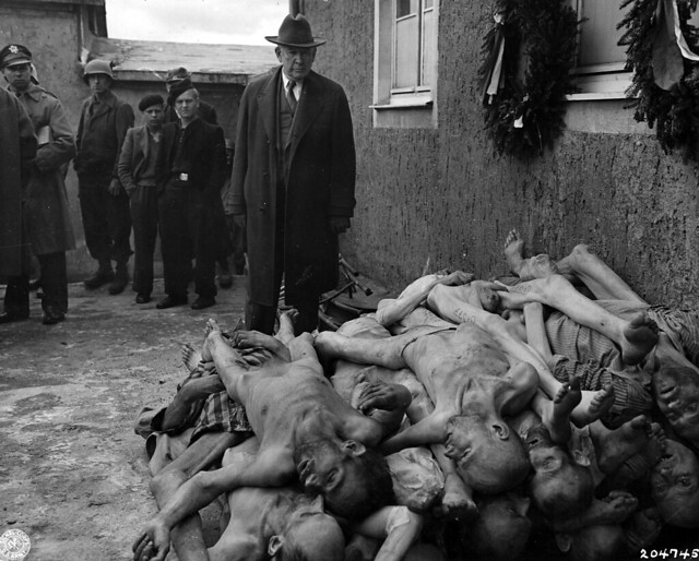 Senator Barkley at Buchenwald, photographer unknown