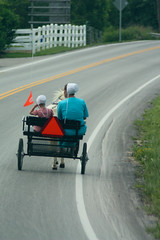 Leaders in the Amish Chariot Race