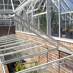 Bespoke Glasshouse with Integral Coldframes for early season plant hardening.