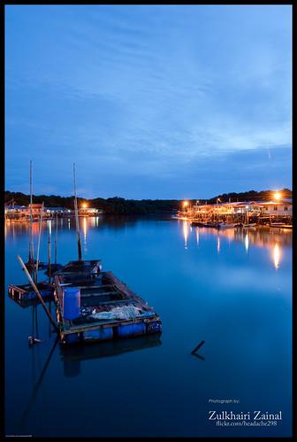 blue sky water clouds sunrise lights nano brunei knk sangkar mc30 d700 batumarang 1635mmf4