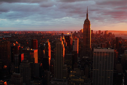 nyc newyorkcity sunset building rock skyline state top manhattan midtown empire empirestatebuilding topoftherock