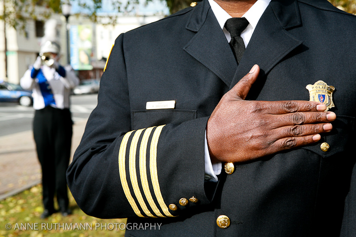 Honoring Veterans Flag Raising-16