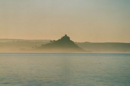 St.Michael's Mount from the Scillonian, early morning 1999 by Stocker Images