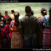 Crowd watching baptism, Lake Atitlan