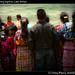 Crowd watching baptism, Lake Atitlan