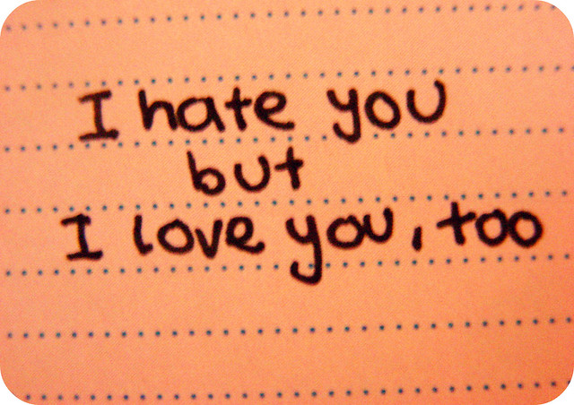 I Hate I Love You Quotes : hate you but I love you, too Flickr - Photo Sharing!