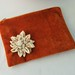 Rust and Flower Pouch