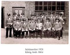 1928 Schützenfest, König Andreas Jäkle, SW022