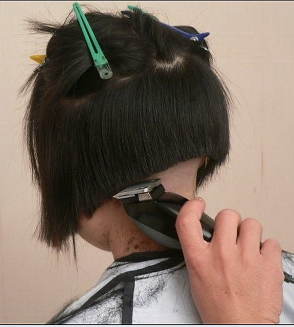 Women Clippered Nape Bob Hairstyles http://www.flickr.com/groups