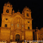 Iglesia de La Compania de Jesus at Night - Cusco, Peru