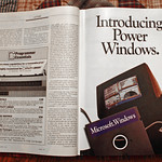 Microsoft Windows 1.0 Six-Page Advertising Insert In Byte Magazine, January 1986 (1 of 4)