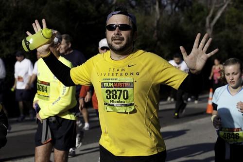 Austin Marathon runner
