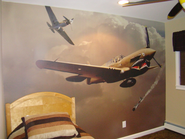 airplane wall mural flickr photo sharing