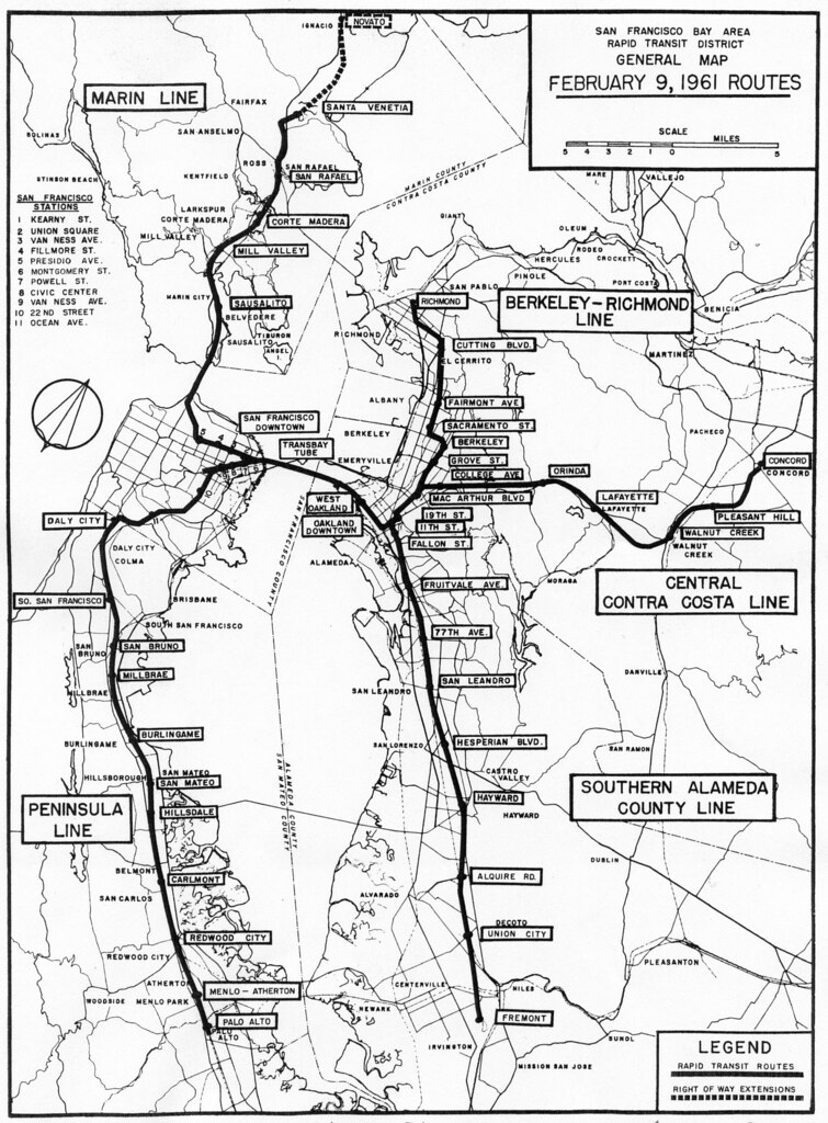 The ACTUAL original BART planned routes  bayarea