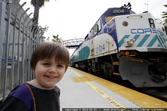 satisfied railroad passenger