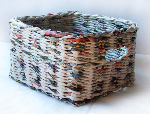 Handicraft Newspaper Basket : Newspaper basket flickr photo sharing