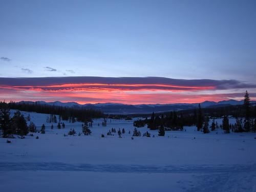 snow mountains sunrise rockies colorado rockymountains xcskiing crosscountryskiing ymcaoftherockies snowmountainranch hcic hcic2010