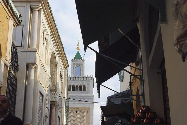 Tunis medina Kasbah Mosque (1235) minaret
