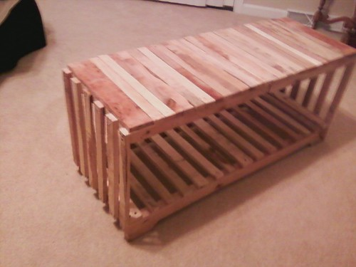 Freight Pallet Coffee In The Garden Table