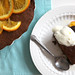 Chocolate Ginger Cake with Simmered Oranges