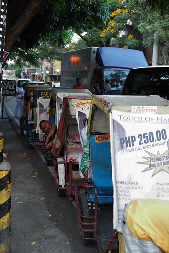 Pedal cabs in Malate street