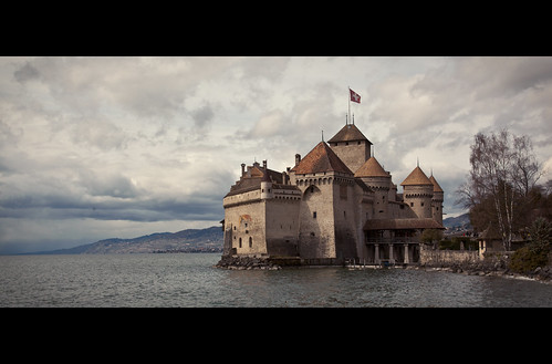 castle landscape switzerland montreux