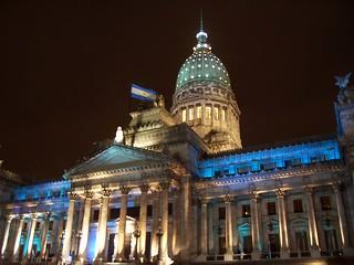 Congreso de la Nación Argentina en la noche