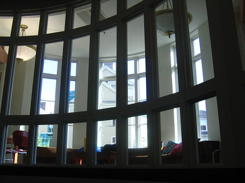 Beverly Public Library, windows to the inside