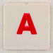 hangman tile red letter A