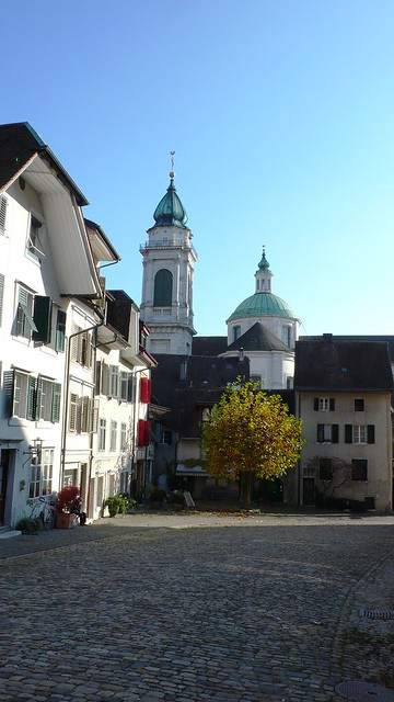 View from Riedholzplatz on St. Urs Cathedral, Solothurn