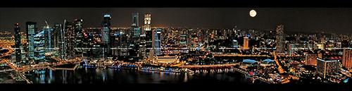 Magical Singapore (7) - Skypark Panorama at night - view large