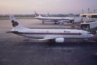 64aa - Thai Airways International Boeing 737-4D7; HS-TDJ@BKK;17.07.1999
